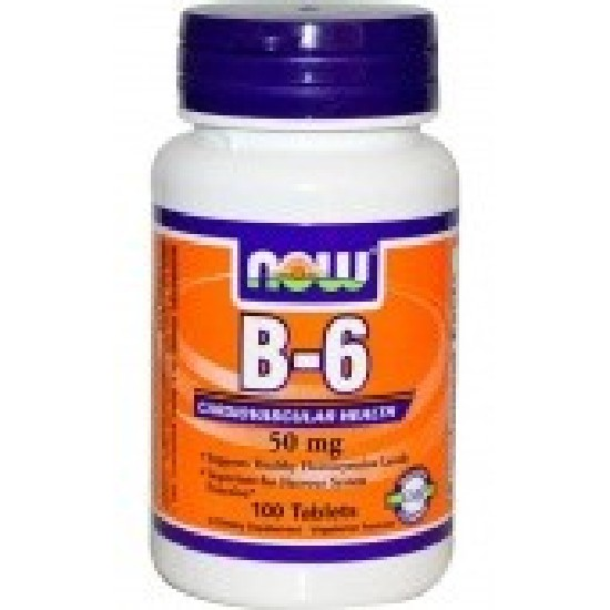 NOW Vitamin B-6 50 mg Витамин B
