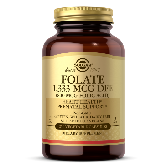 Folate 1,333 MCG DFE (800 MCG FOLIC ACID) Vegetable Capsules
