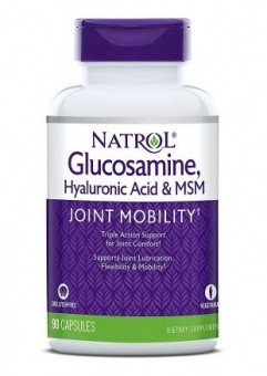 Natrol Hyaluronic Acid MSM and Glucosamine