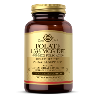 Solgar Folate 1,333 MCG DFE (800 MCG FOLIC ACID) Vegetable Capsules