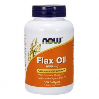 Купить NOW Flax Oil 1000